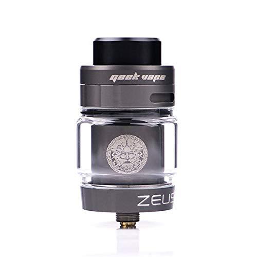 Geekvape - Zeus Single/Dual Coil RTA-Zerstäuber für elektronische Zigarette, Durchmesser 26 mm, Flüssigkeitsinhalt 5,5 ml, Gewindeanschluss 510 (Grau) - Zigarette Sigelei Elektronische