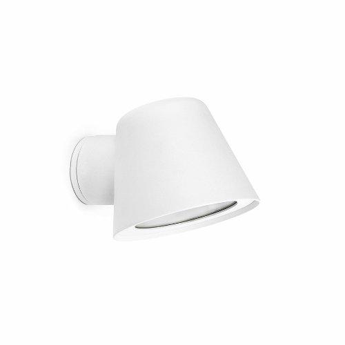 GINA es un aplique de color blanco moderno pensado para iluminación exterior fabricado en aluminio inyectado con difusor de cristal transparente. Este aplique es ideal para la iluminación del jardín.