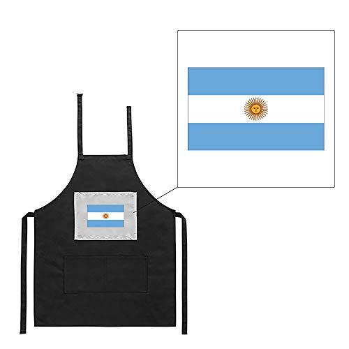 Mygoodprice Küchenschürze, schwarz, Motiv: Flagge Argentinien - 1805 Bath