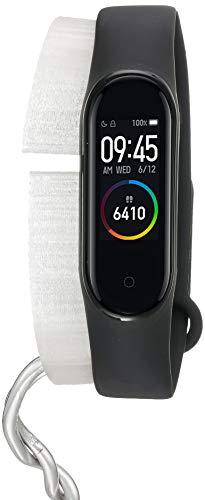 Xiaomi Mi Band 4 Smart Band 0.95 Zoll Full AMOLED Touchscreen Activity Tracker mit Herzfrequenzmessung Benachrichtigungen wasserdicht 5 ATM Schwarz