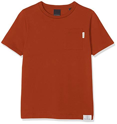Scotch & Soda Shrunk Jungen N/A T-Shirt, per Pack Orange (Burned Orange 2916), 116 (Herstellergröße: 6)