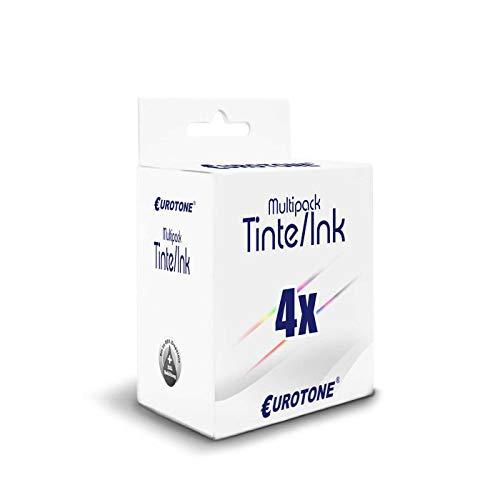 4x Eurotone Cartuccia d'inchiostro per HP OfficeJet Pro 6868 6960 6970 6975 6978 sostituisce 907XL 903XL 907 903 XL Set
