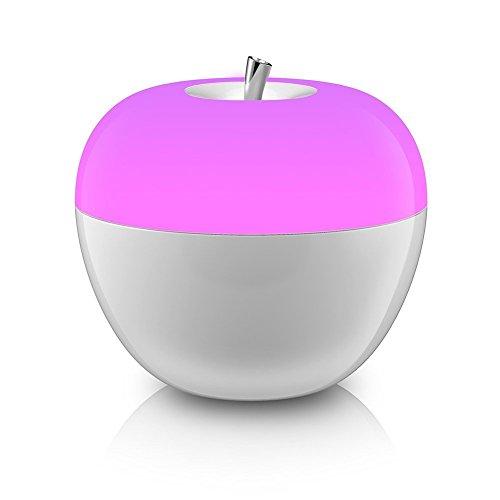 LED Nactlicht, Minkle Apfel Farbwechsel Blowing Kontrolle Nachttischlampe, Batteriebetrieben, Weiß