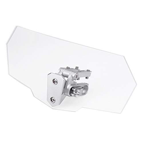 Parabrisas de la motocicleta/Motocicleta Parabrisas ajustable Deflector de viento Parabrisas
