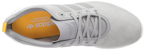 adidas Originals Zx Flux Smooth, Baskets Basses Femme Gris - Grau (Mgh Solid Grey/Mgh Solid Grey/Solar Gold)