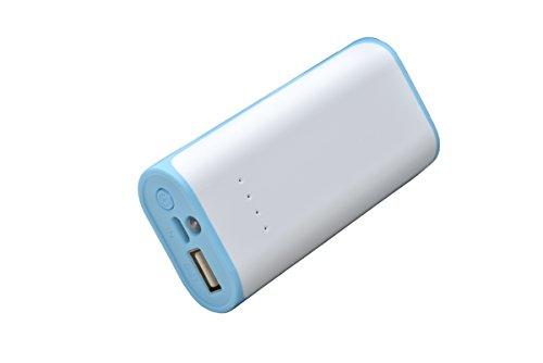 aricona Power Bank 5200 mAh in blau - externer & mobiler USB PowerBank Akku, paralleler Ladevorgang für bis zu zwei Handy 's, Smartphones & Tablets - Der Power Pack Charger