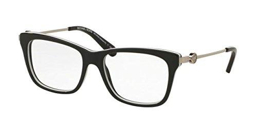 Michael Kors - ABELA IV MK 8022, Schmetterling, Acetat, Damenbrillen, BLACK WHITE(3129), 52/16/135 (135 Black Brille)