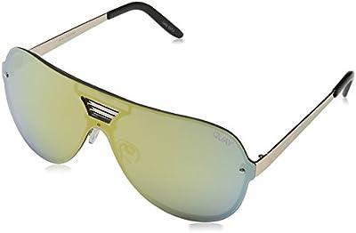 Quay Eyewear Australia Showtime, Gafas de Sol Unisex Adulto, Gold (Gld/Gld Mirror), Talla Única