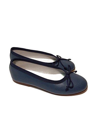 Mädchen Ballerinas Flats Leder extra soft-Made in Spain Blau