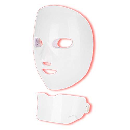 Mit hals led 7 farben gesichtsmaske gesichtsverjüngung haut anti aging gesichtshautpflege maske für frauen mädchen hause maschine(EU)