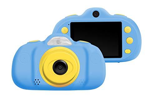 Kinder Kamera Mini wiederaufladbare Digitalkamera Kinder Anti-Drop-Shockproof Design 2,4-Zoll-Bildschirm Digital Camcorder mit 8MP DSLR Dual Lens wasserdichte Kamera Kinder Geschenk (Color : Blue) Dslr, Dual Lens