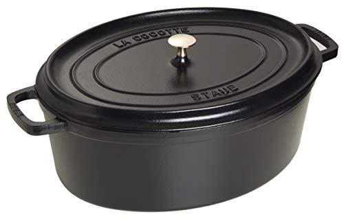 Staub 1103325 Cocotte Ovale Noir Mat 33 cm