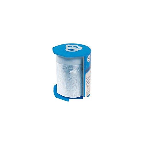 Silverline 100284 HDPE-Abdeckfolie mit Malerkreppband, Rolle auf Abroller 550 mm x 33 m