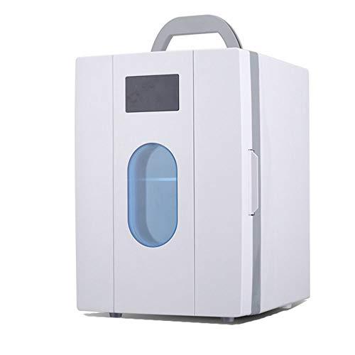 310YJoDYK L - JCDZSW Mini refrigerador 10L Caja de calefacción y refrigeración electrónica de Doble propósito para automóvil Familiar, refrigerador para la Piel, Alimentos, medicamentos, hogar y Viajes