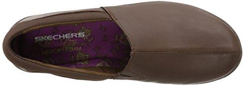 Skechers Savor-singulär Slip-on Loafer Chocolate Leather