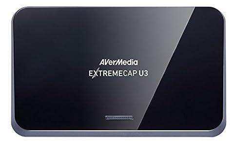 AVerMedia ExtremeCap U3 externe Videoschnittbox - [Anfangen auf YouTube & Twitch] Steamen und aufnehmen Ihre Gameplay in Full HD mit extrem niedriger Latenzzeit für PS3, PS4, Xbox One/ One S, Wii U und Nintendo Switch (HDMI, USB 3.0) [CV710]