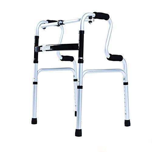 ZAIHW Heavy-Duty-Folding Walker for Senioren, Erwachsene, Extra breiter Front Stabilität Walker Einstellbare Höhe -