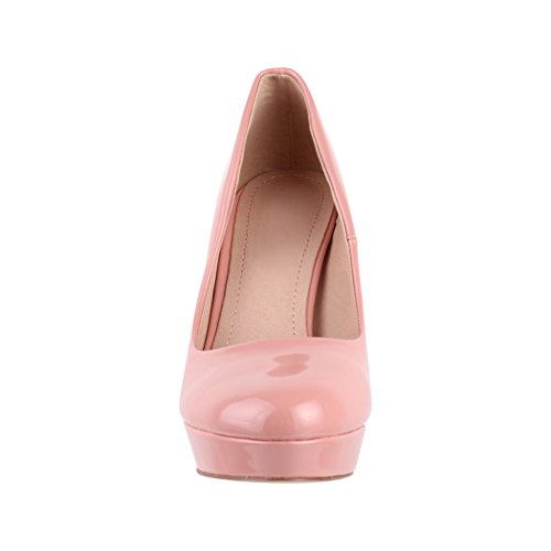 Elara Plateau Pumps   Moderne Damen High Heels   Stiletto Schuhe Pink Marseille