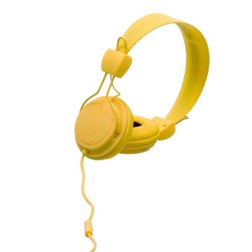 WeSC Matte Conga OnEar-Kopfhörer (inkl. Hands-Free Unit & Adapter für Sony Ericsson & Nokia) gelb