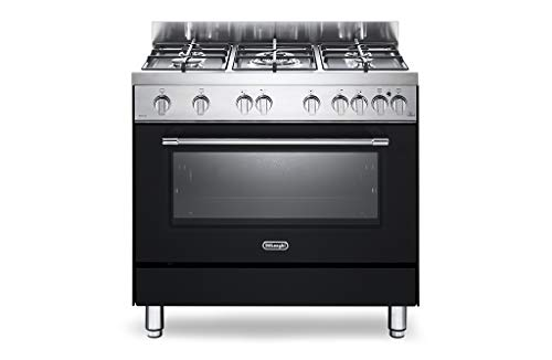 Cucina a Gas 5 Fuochi Forno a Gas Ventilato 90x60 cm Linea Professional