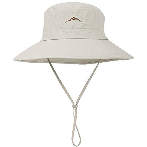 WYYY Chapeaux Hommes Visière Nylon Respirant Protection Contre Le Soleil Protection UV À L'extérieur 56-58cm (Couleur : Kaki)