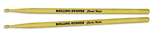 Rolling Stones Charlie Watts Drumsticks Trommelstäbe Stöcke Set B&W Print