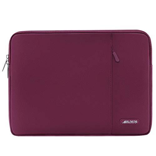 MOSISO Laptop Sleeve Hülle Kompatibel 2018 MacBook Air 13 A1932, MacBook Pro 13 Zoll A1989&A1706&A1708 2018 2017 2016, Surface Pro 6/5/4/3, Polyester Vertikale Stil Wasserabweisend Tasche, Weinrot