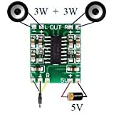 Sound King 2 Channels 3W Pam8403 Class D Audio Amplifier Board 5V Usb Power