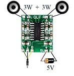 he PAM8403 module is a miniature digital 2x3w class D power amplifier board, which can also work on USB power supply. It has good noise suppression when the input audio is via a sheilded wire. When working with a 5v power supply it can directly drive...
