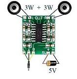 #3: Sound King 2 Channels 3W Pam8403 Class D Audio Amplifier Board 5V Usb Power