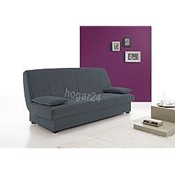 HOGAR24 Sofa Cama Clic CLAC con ARCÓN DE ALMACENAJE Azul