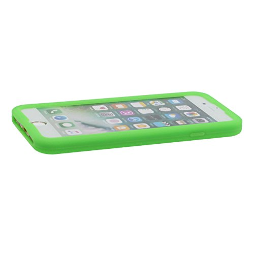 iPhone 7 Plus Hülle, Dünn & Leicht Prämie Weich Silikon Kunststoff Original Klassisch Game Boy 3D Gestalten Serie Schutzhülle Case Anti-Schock für Apple iPhone 7 Plus 5.5 inch Grün