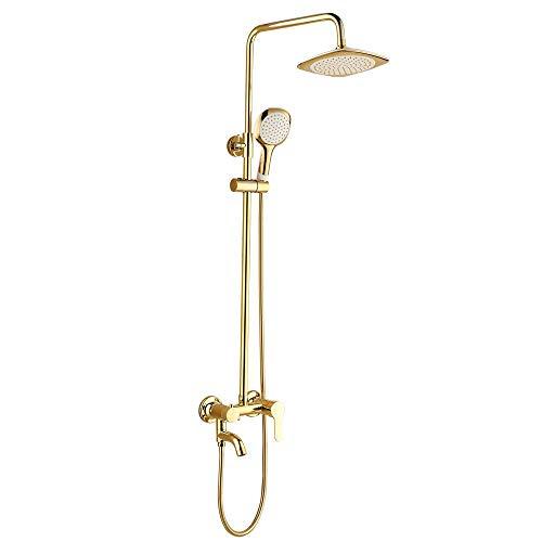 Chrome Air Gap (YZ-YUAN Badezimmer Regensystem mit Regenkopf, Handgerät, höhenverstellbar)