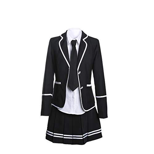 URSFUR Mädchen Japan Kostüm Langärmelige Anzug Cosplay Uniform Anime Uniform - Stil 13-S (Mädchen Für Asiatische Kostüme)