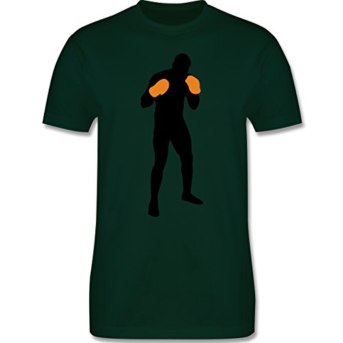 Kampfsport - Boxer Grundstellung - Herren Premium T-Shirt Dunkelgrün