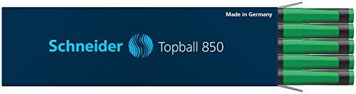 Schneider Topball 850 Tintenroller Mine (Euro-Format, Strichstärke 0,5 mm) 10er Packung grün