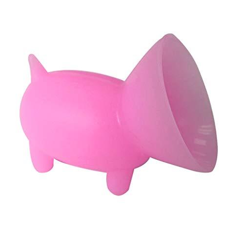 Fcostume 2 Stück Schöne Tragbare Mini-Schwein Silikon-Saug-Handyhalter Stand (Rosa) Rosa Dock
