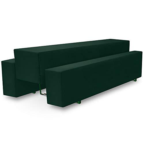 Beautissu Basic M Bierbank-Hussen & Biertisch-Husse 3 TLG Set 70cm breite Festzeltgarnitur Bierzeltgarnitur Dunkel-Grün & weitere Farben