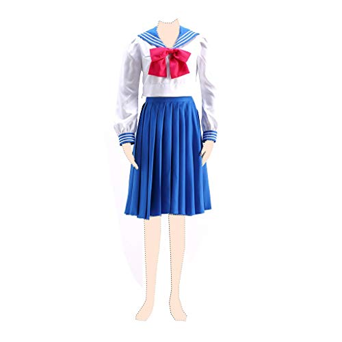 Dream2Reality Sailor Moon Cosplay Kostuem Sailor Mercury Amy Mizuno Ver.4 Autumn Sailor Suits Kid - Sailor Moon Mercury Kostüm