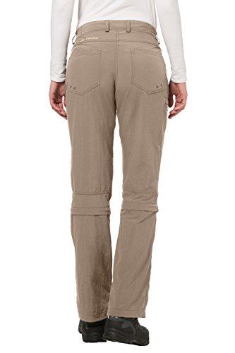 VAUDE Damen Hose Farley Zip Off Capri Pants Muddy