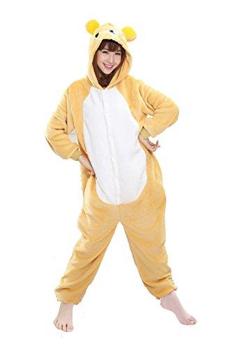 Imagen de jt amigo disfraz de pijama para unisex adultos, oso, s altura 150 160cm