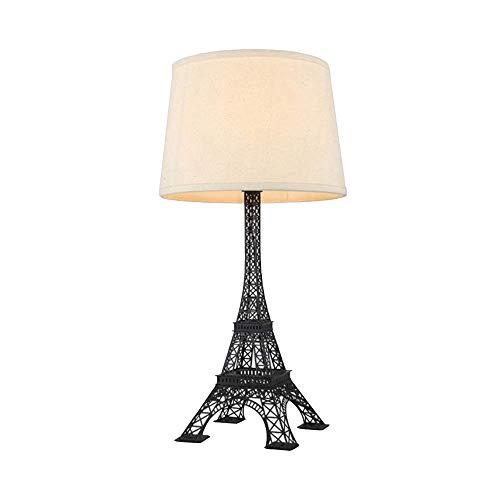 Lampe de table en forme de tour Eiffel Porte-lampe en fer forgé de style européen Créativité moderne Éclairage Art Sake Bar Magasin de vêtements Chambre d'étude Lampe de chevet (& Phi; 30 * H60), Ma