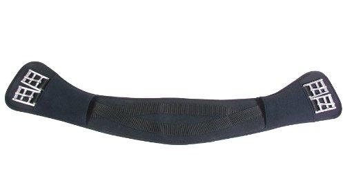 PFIFF Anatomischer PFIFFsoft Sattelgurt - Cincha para Caballo, Color Negro, Talla 50 cm