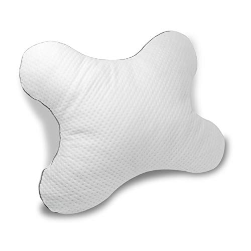 Luxamel Höhenverstellbares Bauchschläferkissen mit Memory Flocken Beutel perfekt für Bauchschläfer mit Tencel Bezug (56 x 48 x 8-12 cm)