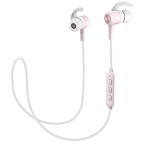 Cuffie Bluetooth Magnetiche 4.1 TaoTronics, Auricolari Impermeabili IPX6 Stereo Wireless Ultraleggere (8 Ore di Riproduzione, Cancellazione del Rumore CVC 6.0, Microfono MEMS) - Rosa