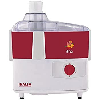 Inalsa Era 450-Watt Juicer Mixer Grinder with 2 Jar (Red and White)