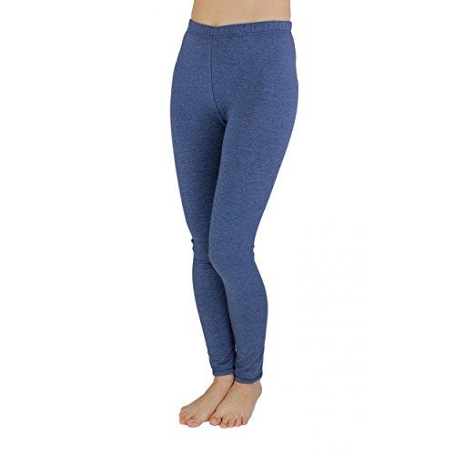 Mädchen Leggings Lang Baumwolle Blickdicht Kinderhosen Leggins Kinder Stoffhose Schwarz Weiß Blau, Farbe: Jeans, Größe: 110