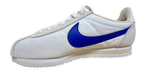 Nike Wmns Classic Cortez Nylon, Chaussures de Sport Femme, Bleu white paramount blue oatmeal 100