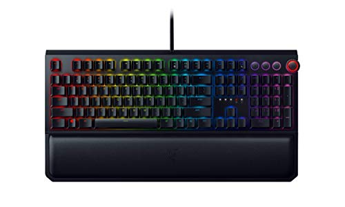 Razer Blackwidow Elite Mechanische Full-Size-Gaming-Tastatur mit Mediensteuerung und Handballenauflage (Green Switches, QWERTZ Layout)