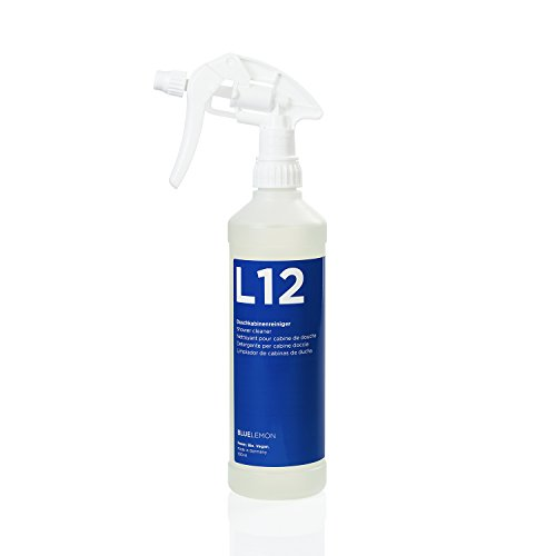 Profi Duschkabinenreiniger 500ml L12 von BLUELEMON | Biologisch | 90248 | Spezialreiniger mit Aktivschaum zum Reinigen von Duschkabinen